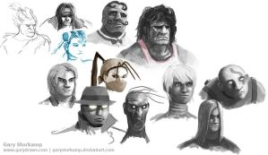 Street Fighter III sketches by GaryStorkamp