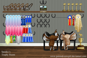Spanky's Trophy Room by painted-cowgirl
