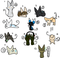 Chibi Face Cats 8D NOW POINTABLES by MUTTD0G