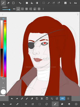 Realistic Dr Irina with eye patch (W.I.P) by BoXGirlVivi