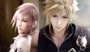 Cloud Strife and Lightning Farron by XxClaireStrifexX