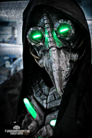 Plague knight -  LED cyberpunk plague doctor mask by TwoHornsUnited