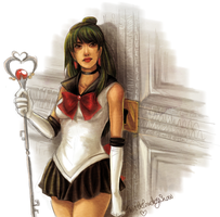 Sailor Pluto Coloured Doodle by TwinklePowderySnow