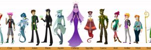 Unseen- Character Lineup by Cryej