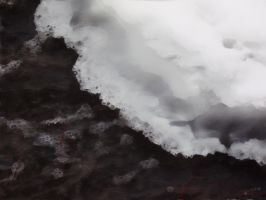 Ice Rapids In Water Colour by Rose--Wolf