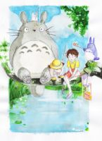 Totoro commission by Tifaerith