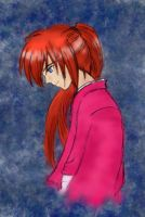 Smiling Kenshin Coloured by Skypilot