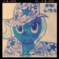 Napkin Art #40 - My Little Pony - Powerful Trixie by PeterParkerPA