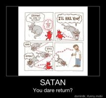 Kitty Vs Satan by AskHelenaWayne