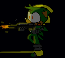 Bolt playing with a Spas-12 Shotgun by BoltTTH
