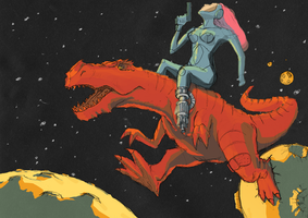 Space dinosaure by jstyle05
