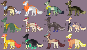 Adoptables 68 CLOSED by hinanamis