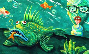 The Aquarium (Fugly Fish For Sale) by Art-of-Eric-Wayne