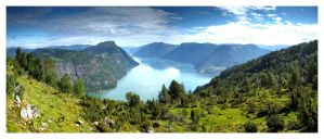 .above the fjord by Igtorn