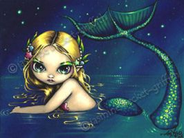 Shimmering Mermaid by jasminetoad