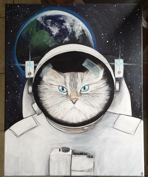 Cat in Space by TheJennaBrown