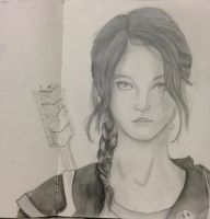 Katniss Everdeen the Girl on Fire by xxXeatyourkimchiXxx