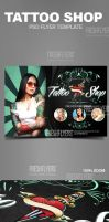 Tattoo Shop Flyer Template by ImperialFlyers