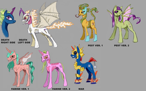 MLP-FIM: THE FOUR MARES OF APONYCALYPSE by king-ghidorah