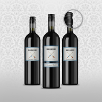Wine Bottle Photorealistic Packaging Mock-Up by design-o-studio