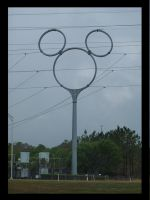 mickey mouse power line pole by ADDanny