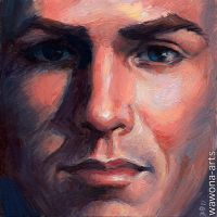 Pretty Boy oil painting by wawona-arts