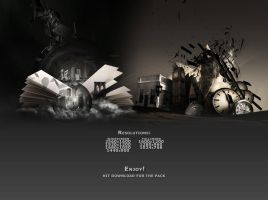 T.T.T and Town Wallpaper Pack by prosthetics1
