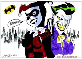Joker and Harley - commission by EttoBascianoWorks