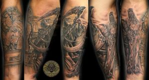 Judge clock reaper fortuna by 2Face-Tattoo