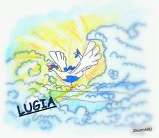 Lugia in the sky by Shaymin1993