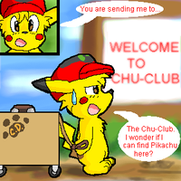 Ash going to the Chu-Club by Coshi-Dragonite
