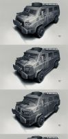 Postapo cars - Waggon by hunterkiller