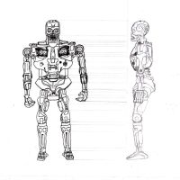 Terminator technical drawing by forget-the-sun