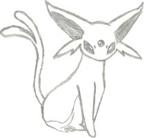 Espeon Sketch by CoolMan666