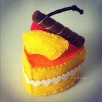 Pineapple Orange Mousse Cake by bibiluv