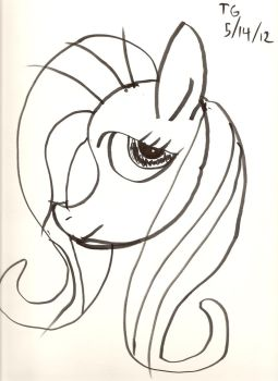 QUICK!  Fluttershy by thatrevmans