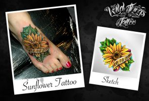 Sunflower Tattoo by WildThingsTattoo