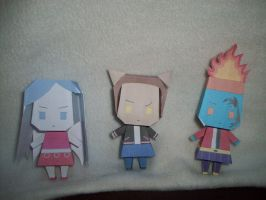PaperCrafts:MHGroup03 by KPenDragon