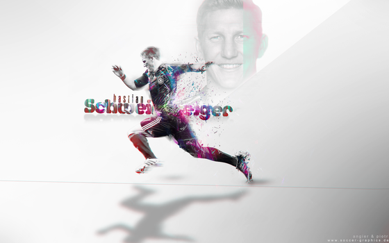 Schweinsteiger Wallpaper - collab with Angier by Piotr-Designs