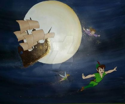 Peter Pan Canvas by spittfire26