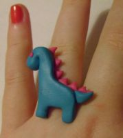 Dino Ring by delicioustrifle