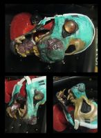 ZOMBIE ANTHRO MASK WIP by Anarchpeace