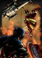 CAP+IRONMAN by agathexu