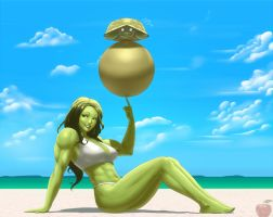 She Hulk and that Turtle Again By Sentrythe2310 by cerebus873