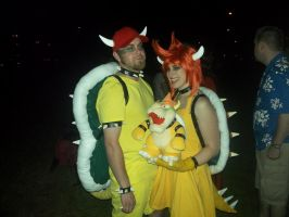 King Bowser and Queen Bowser by ChaudStarpower