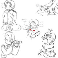 Baby Japan Sketches by Steampunky-Bunny-Boo