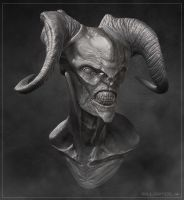 Demon Bust by daitengu