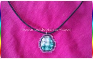 Minecraft ~ Diamond Necklace by mogunoe