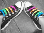 Rainbow Kandi Shoez by Sable666