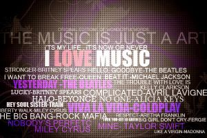 I LOVE MUSIC. by Wonderfulwords